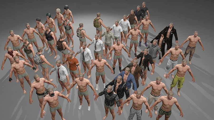 PLAYERUNKNOWN'S BATTLEGROUNDS - Male Avatar Character