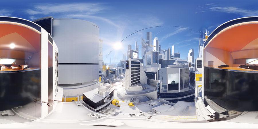Mirror's Edge HDRIs (Buildings, Rooftop, Interiors)