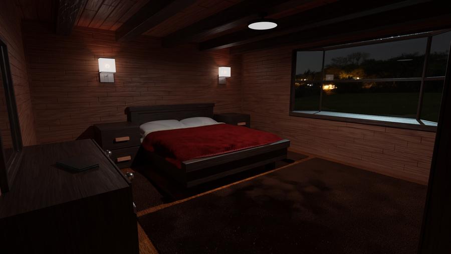 Cabin Bedroom (Cycles and Eevee)