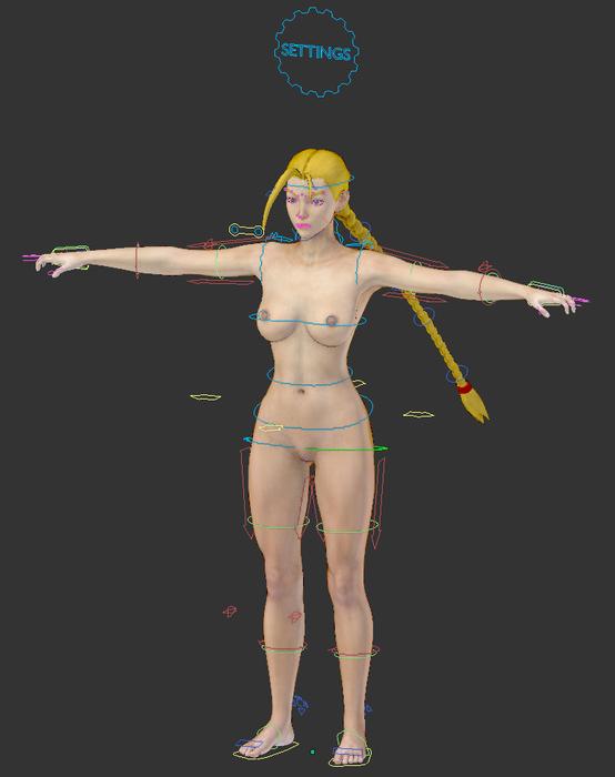 Cammy - Street Fighter (Blender 2.79)