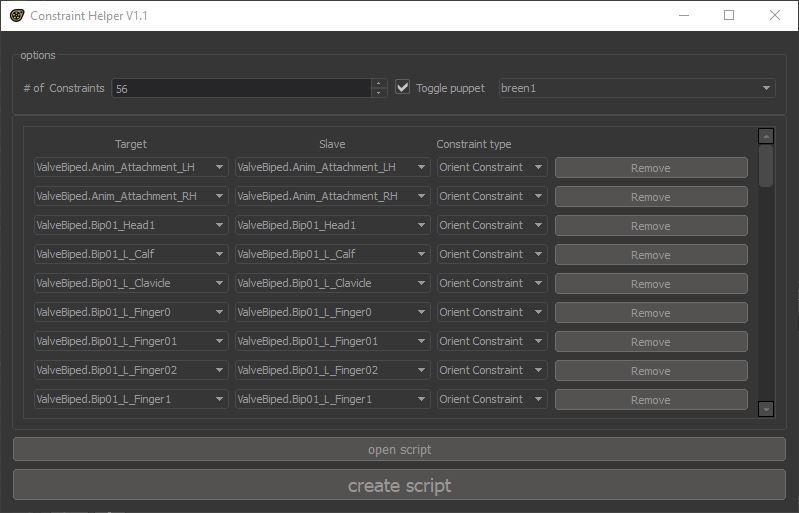 Constraint Helper v1.1