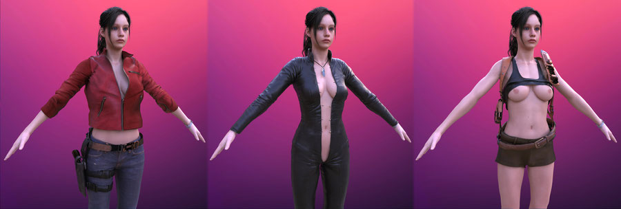 Resident Evil 2 | Claire [Nude, Blender]