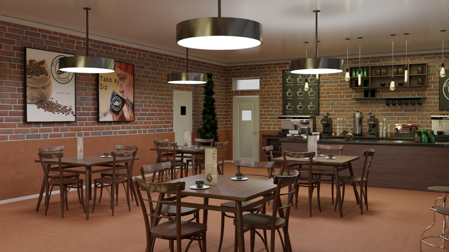 Digitallabs3d's Coffee Shop for Blender 2.9 +
