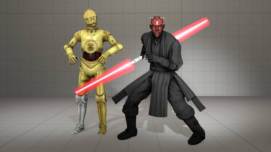 Star Wars - Dart Maul, C3PO and lightsabers