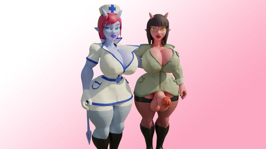 Demon Girls Lavender & Rose