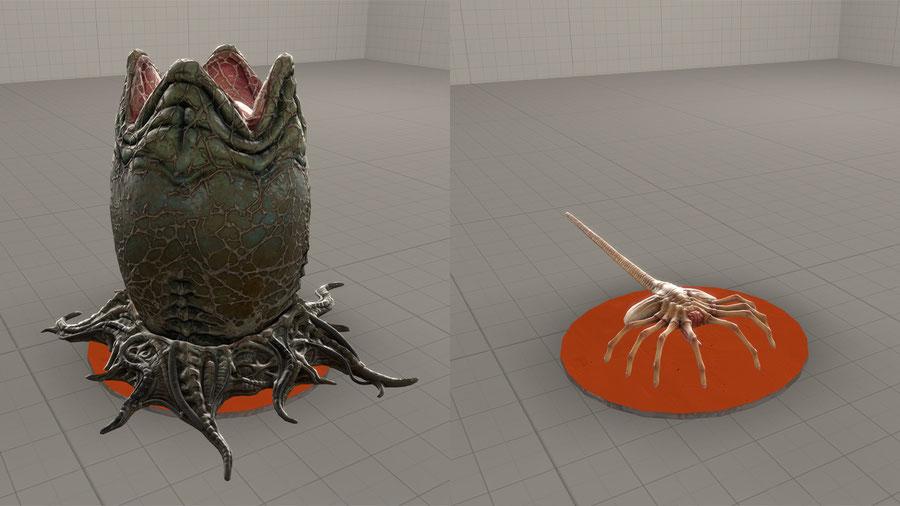 Xenomorph Egg and Facehugger - Aliens: Fireteam Elite