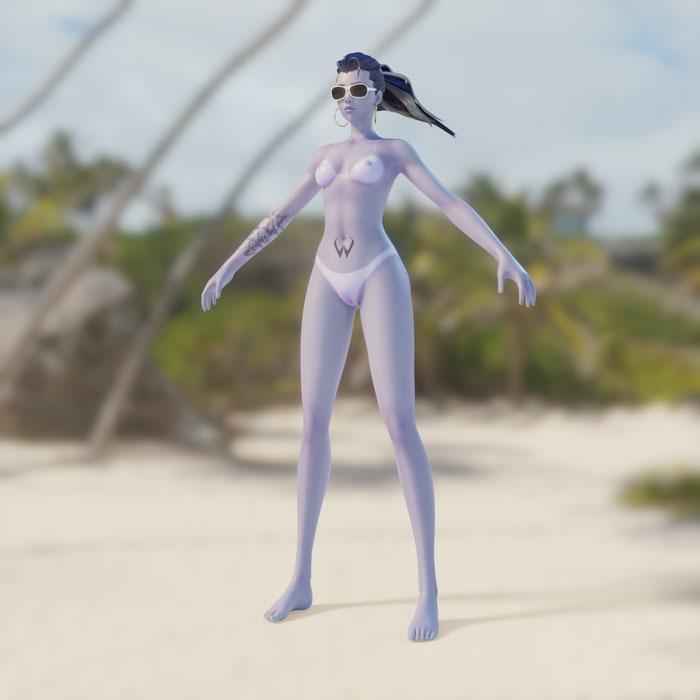 Beach Babe Widowmaker - Overwatch (Blender 2.8)