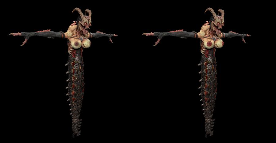 Female and male Whiplash (DOOM eternal)