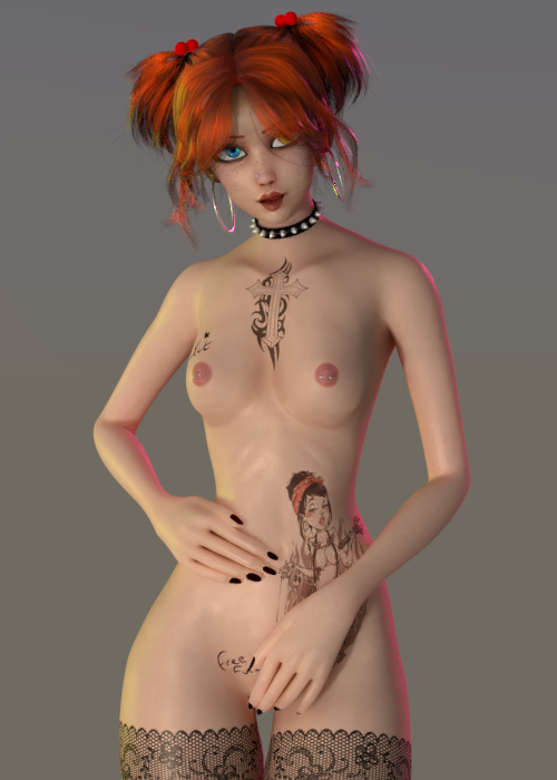 Ginny Character ( rigged ) BLENDER