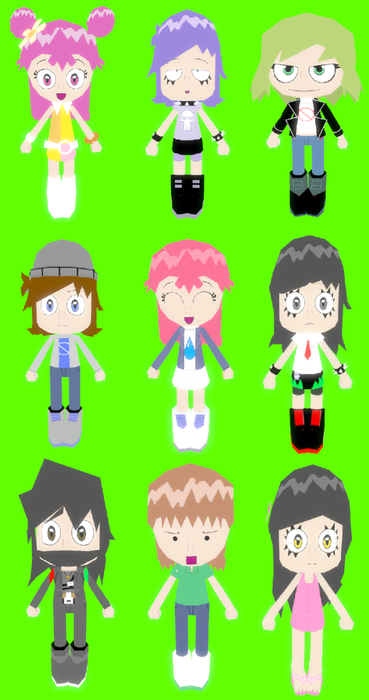 Hi Hi Puffy AmiYumi: Character Expressions Pack for Material Override