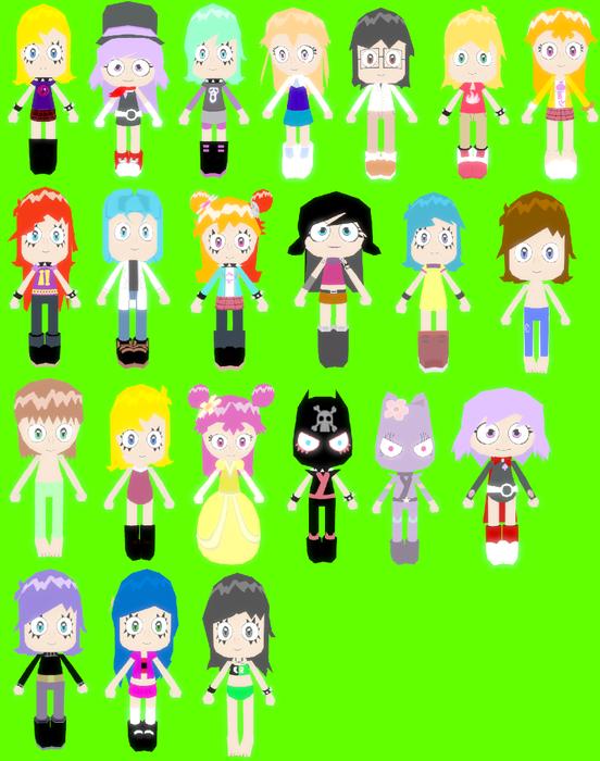 Hi Hi Puffy AmiYumi: Character Models Pack 2