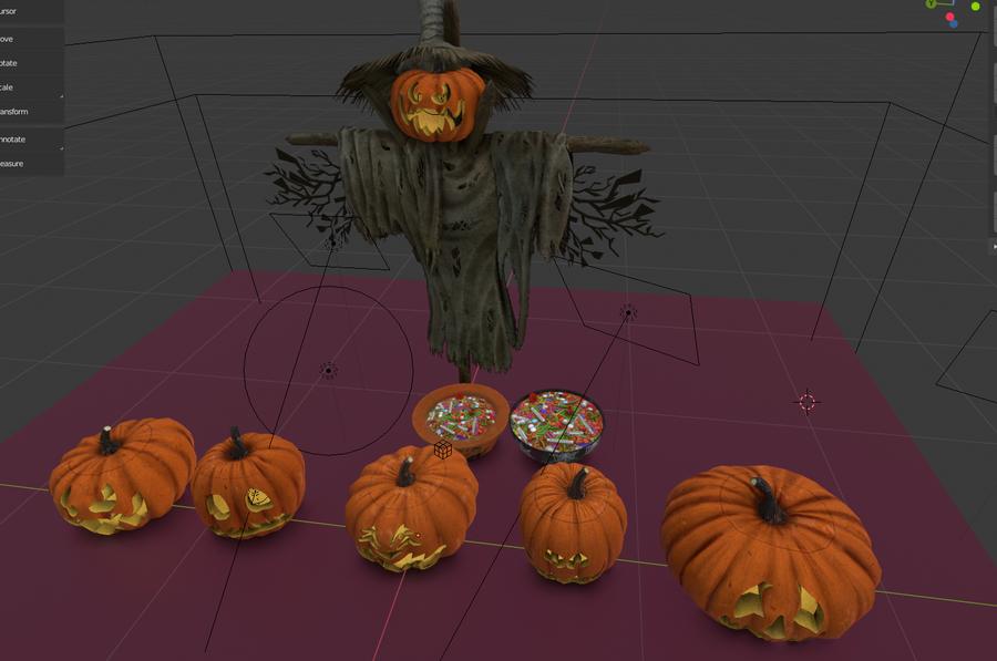 Halloween Props Set 2.80 + Eevee