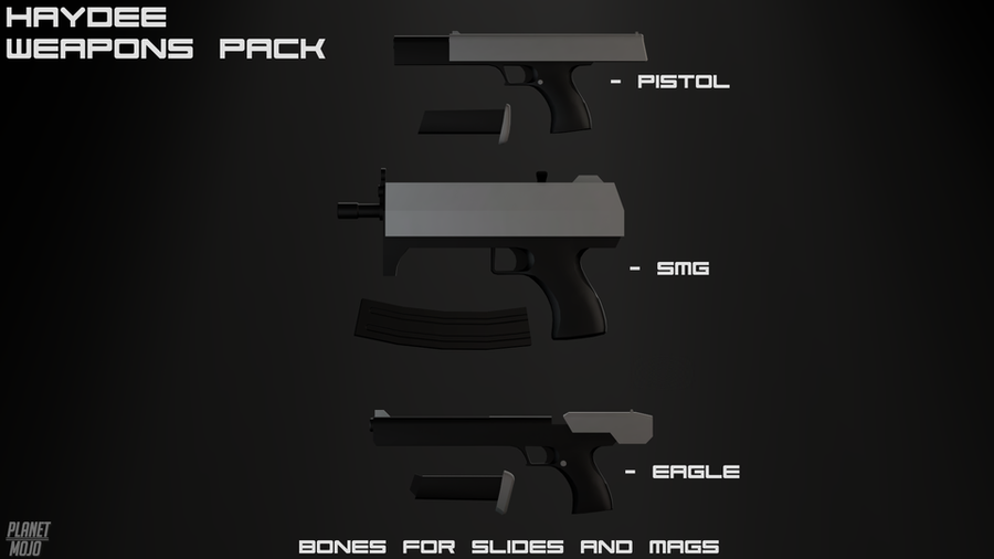 Haydee Weapons Pack