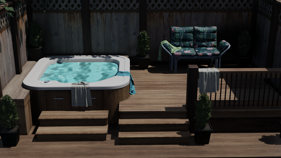 Deck with Jacuzzi