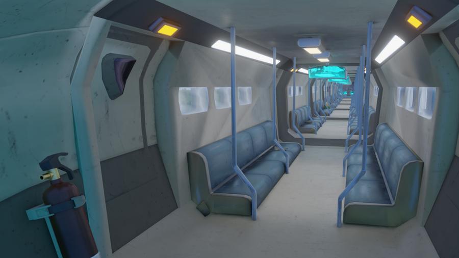 OVERWATCH - Train Environment // Blender