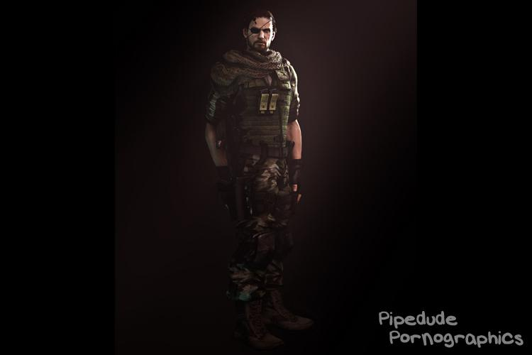 [Metal Gear Solid] Snake (aka Big Boss) nude