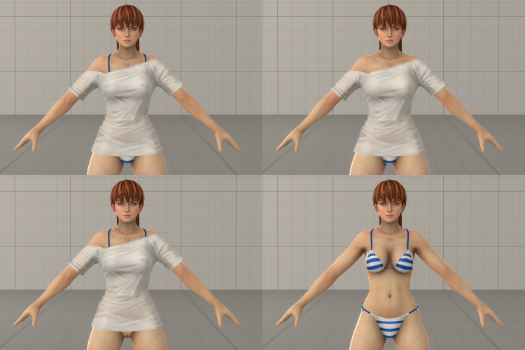 Kasumi Hot Summer Outfit