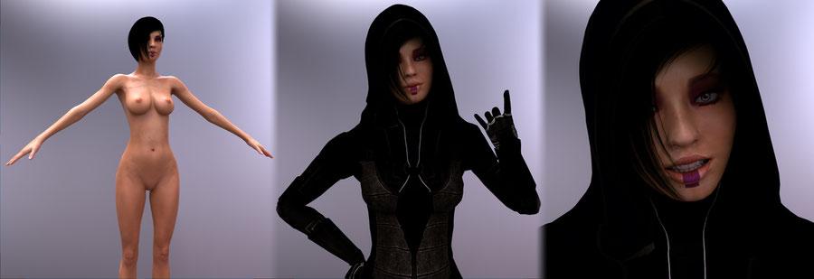 Mass Effect | Kasumi Goto [Nude, Blender]