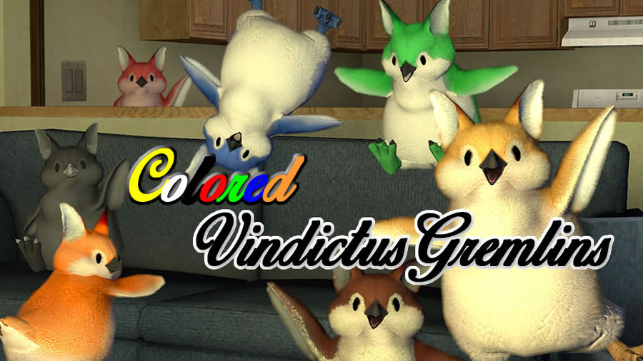 Colored Vindictus Gremlin/小鬼+8種顏色  - (新)瑪奇英雄傳