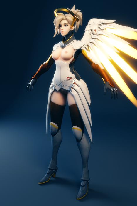 [Overwatch] Ellowas's Lewd Mercy for Blender