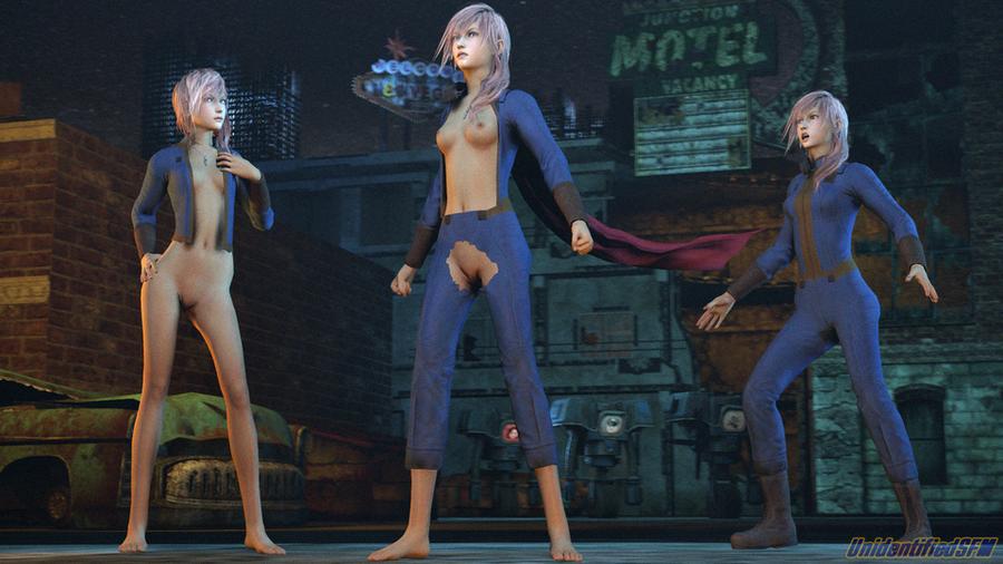 Nude Lightning [Final Fantasy XIII]