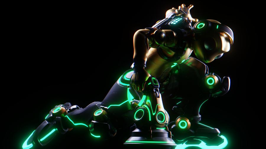 [Overwatch] Hippity-Hop Lucio for Blender - Default + Rainbow Edit