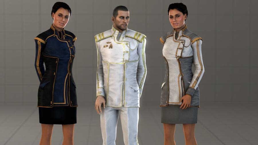 Commander Shepard & Ashley Williams - Formal Attire