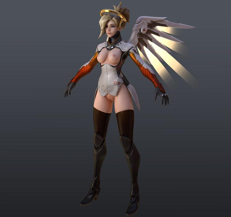 [Overwatch] Mercy for Cinema 4d r19