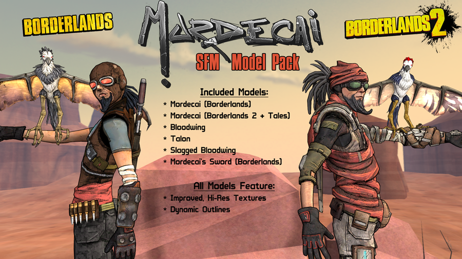 Borderlands: Mordecai (Models + Prop Pack)