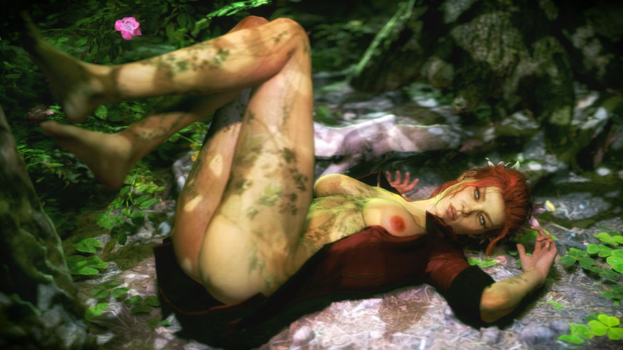 Arkham Knight - Nude Poison Ivy
