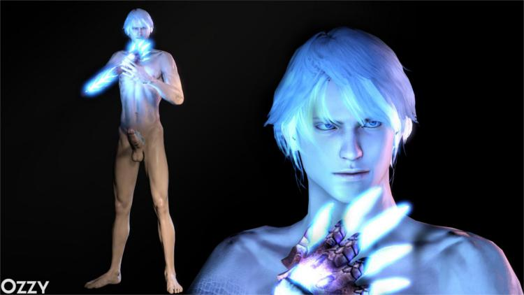 Nero Nude Model (Devil May Cry 4)
