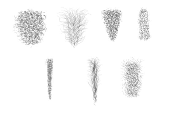 Pubic hair selection for artists