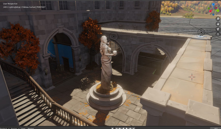 [Overwatch] Complete Château Guillard map ported and setup for Blender 2.81 / Eevee real time.