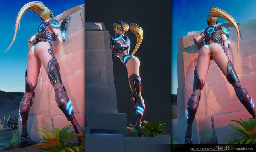 [Overwatch] Nude Nova Widowmaker, complete with rig (.blend).