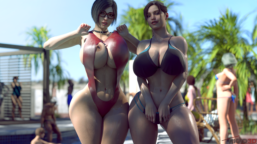 RE2   Claire Redfield and Ada Wong