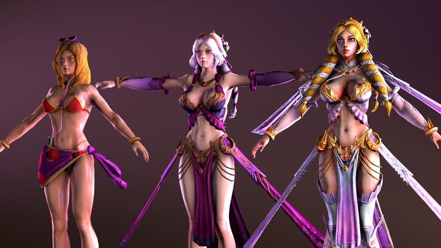 SMITE - Aphrodite - 3 outfits