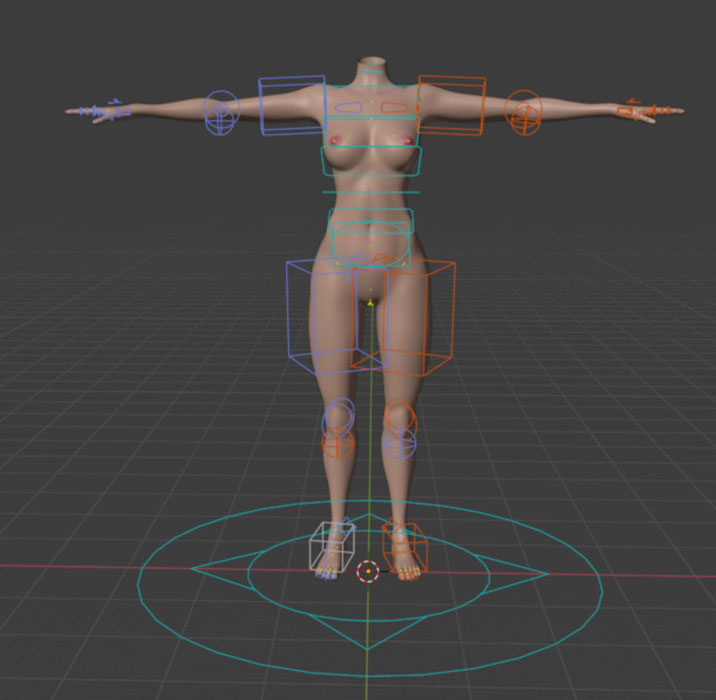AeridicCore's ReVAmped Body Base v4 (Ported from SFM and Rigged w ARP)
