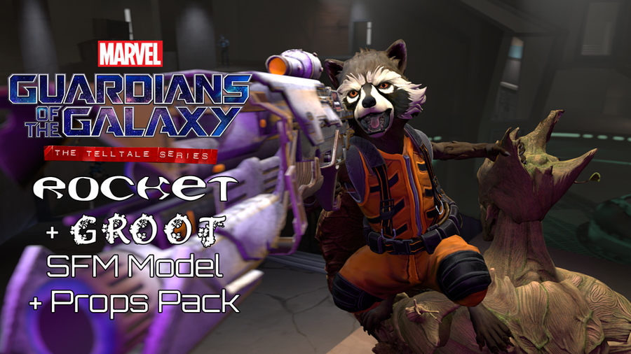 Guardians of the Galaxy - Rocket & Groot (Models & Props Pack)