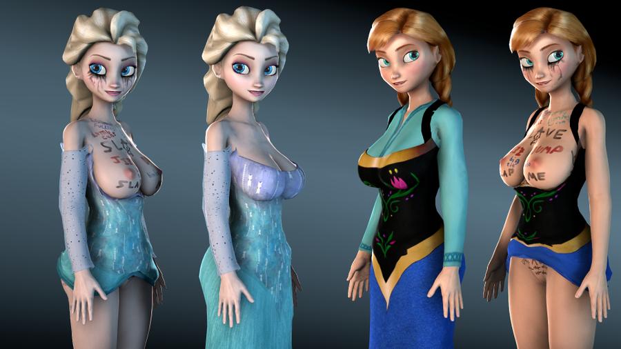 Curvy Elsa & Anna 2017 - V2 [DazV4F Update]
