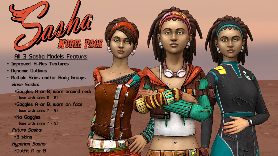 Tales from the Borderlands - Sasha Model Pack