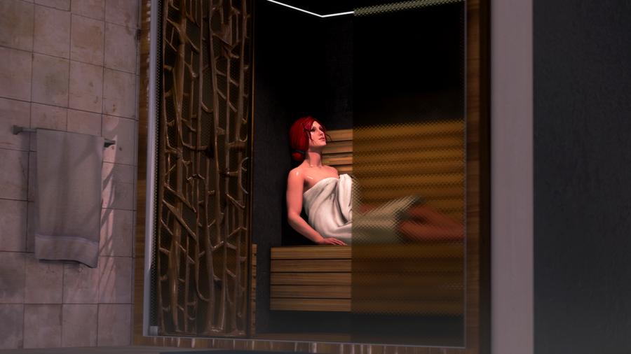 Sauna Room/Massage Table