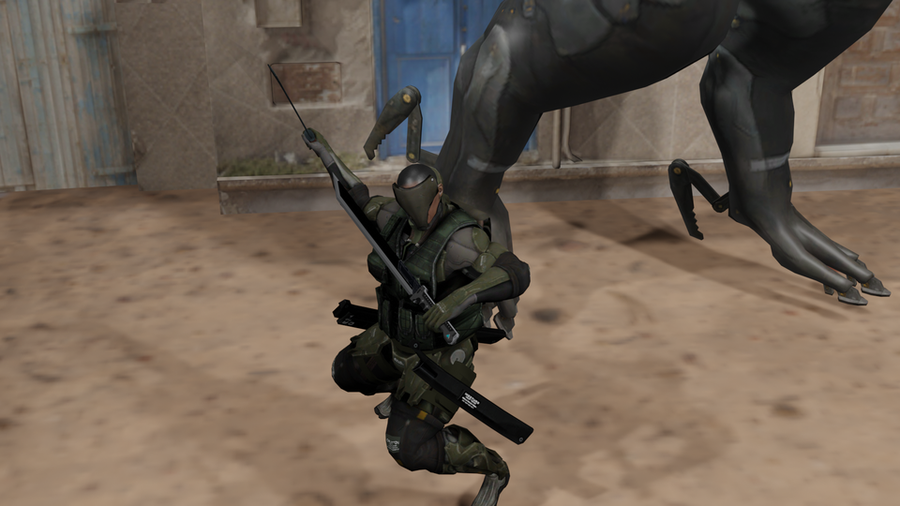 Metal-Gear Rising: Female Desperado Cyborg Soldier