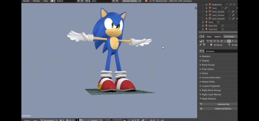 Sonic Rig Beta - Blender 2.79
