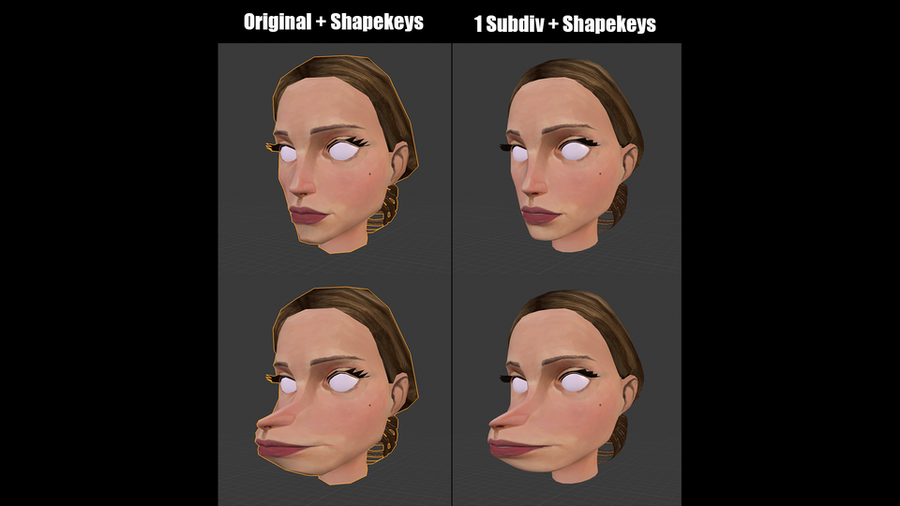 Subdivide Meshes with Shapekeys