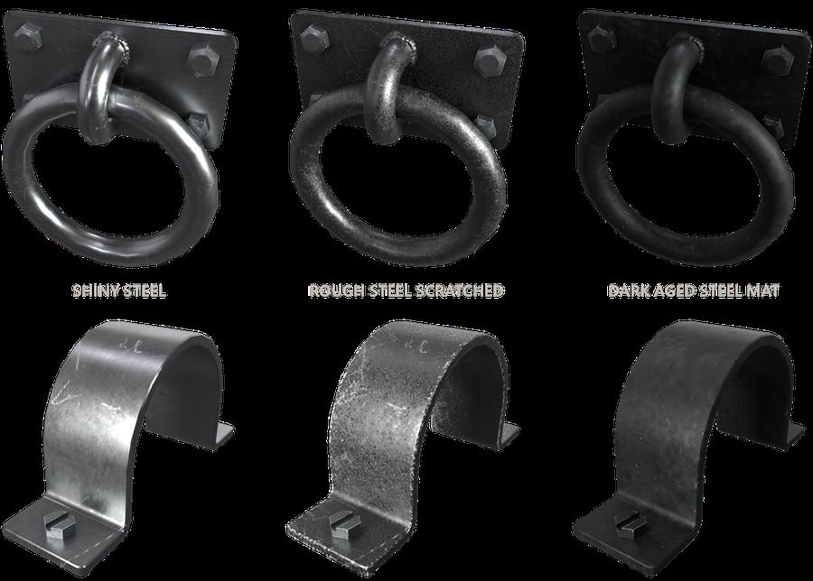Set of Steel Hooks, Handles