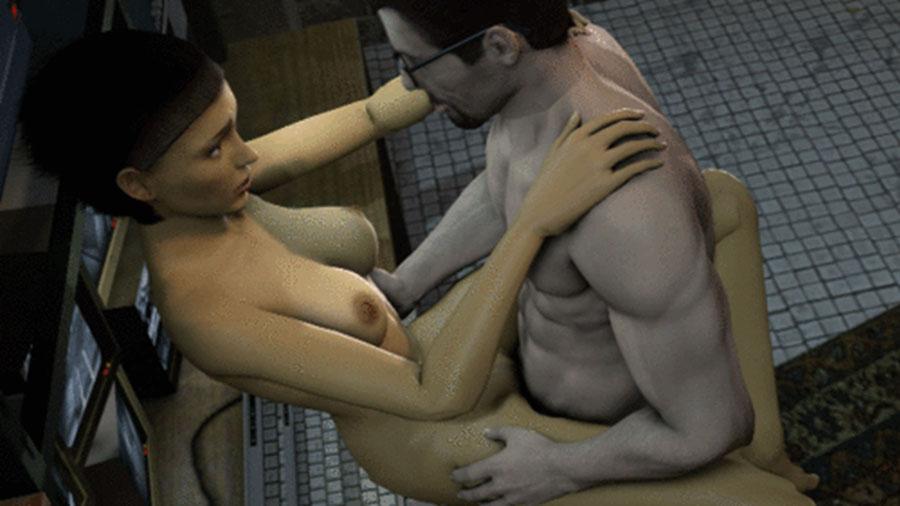 Evil Ash's nude Gordon Freeman