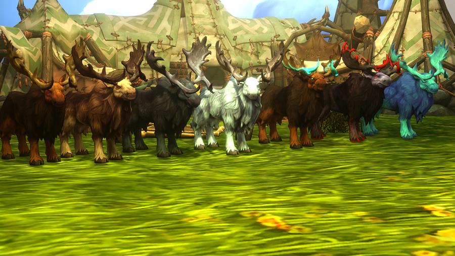 Highmountain props + moose (WoW)