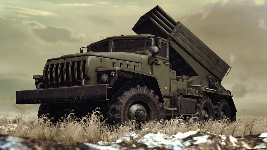 Call Of Duty MWR Ural BM - 21 [SFM]