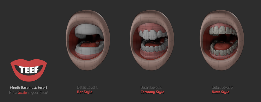TEEF: Mouth Cavity Base Mesh Insert