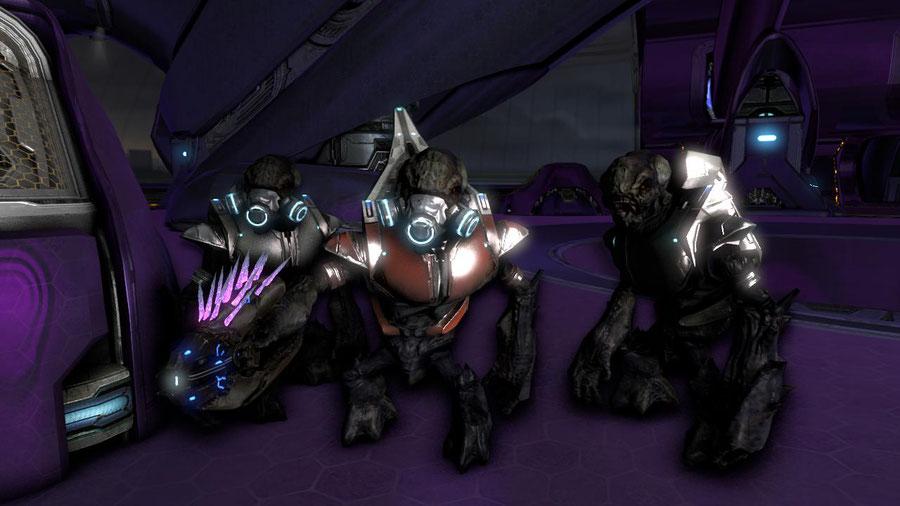 Halo 3 Grunt, Brute, and Elite